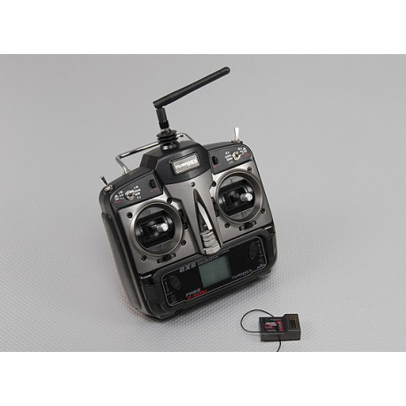 Turnigy 6XS FHSS 2.4ghz Computer Transmitter w/6 Model Memory Inc 7 Ch Receiver (Mode 1)