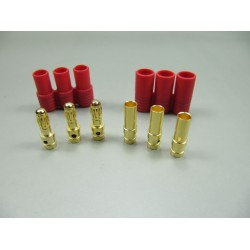 Individual HXT 3.5mm connector for motor/ESC (12pc)