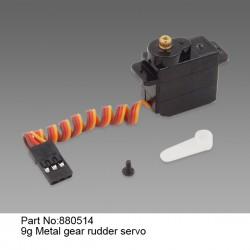 9 г Рулевой сервомеханизм  с металлическим редуктором/ 9g Metal gear rudder servo
