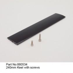 Киль с креплением 240 мм/Kell witch screws 240mm