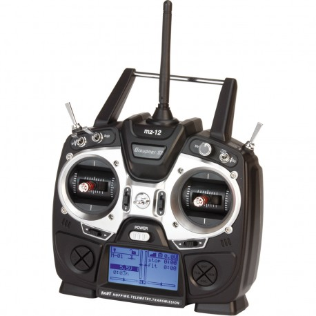 GRAUPNER MZ-12 TRANSMITTER WITH GR-12L RECEIVER