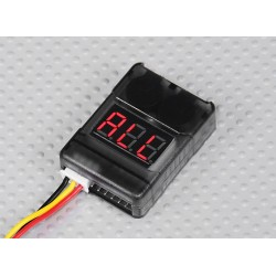 Signaling device of a low voltage with display Hobbyking 2-8S Cell Checker